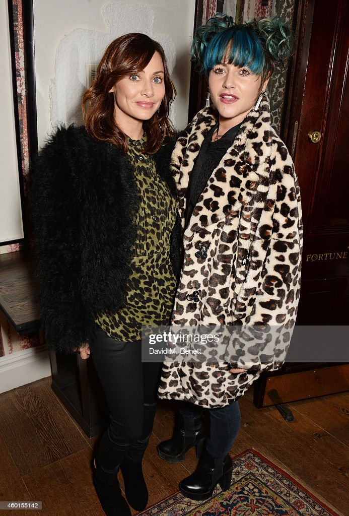 Natalie Imbruglia (L) and Jaime Winstone attend a VIP screening of 'St. Vincent' hosted by Poppy Delevingne at The Covent Garden Hotel on December 8, 2014 in London, England.