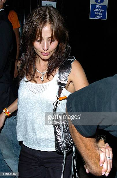 Natalie Imbruglia during Celebrity Sightings at the Cabaret Club in London July 30 2005 at Cabaret Club in London Great Britain