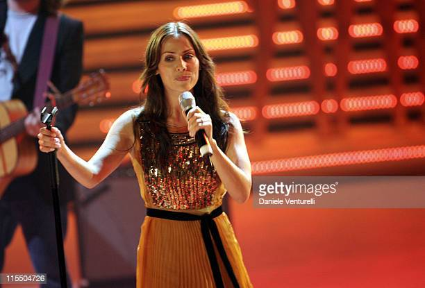 Natalie Imbruglia during Natalie Imbruglia Performs at the Miss Italy 2005 Beauty Contest in Salsomaggiore Italy