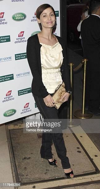 Natalie Imbruglia during WTA – Pre Wimbledon Party Outside Arrivals at The Roof Gardens in London Great Britain