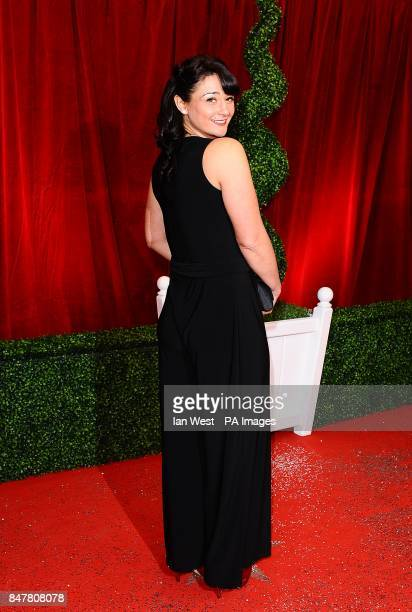 Natalie J Robb arriving for the 2012 British Soap Awards at ITV London Studios South Bank London