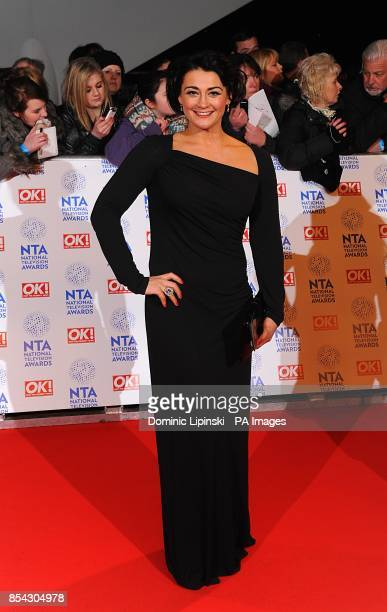 Natalie J Robb arriving for the 2013 National Television Awards at the O2 Arena London