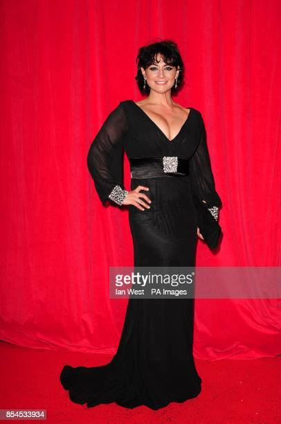 Natalie J Robb arriving for the 2014 British Soap Awards at The Hackney Empire 291 Mare St London