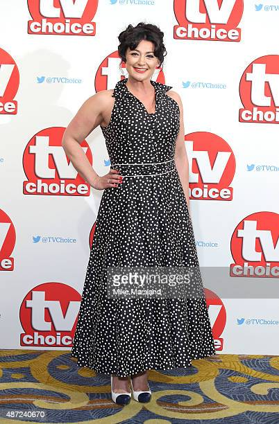 Natalie J Robb attends the TV Choice Awards 2015 at Hilton Park Lane on September 7 2015 in London England