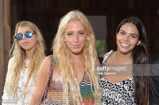 Natalie Jackson Karen Shiboleth and Reya Benitez attend DuJour's Jason Binn Hamptons brunch presented by EAST Miami on August 23 2015 in...