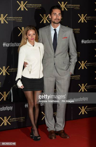 Natalie Joel and Hugo Taylor attending the Kardashian Kollection For Lipsy launch party at the Natural History Museum London
