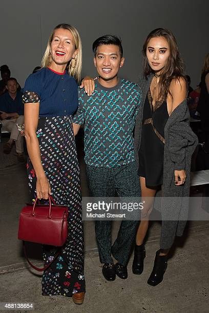 Natalie Joos Bryan Boy and Rumi Neely attend the Thakoon fashion show during Spring 2016 New York Fashion Week at SIR Stage37 on September 13 2015 in...