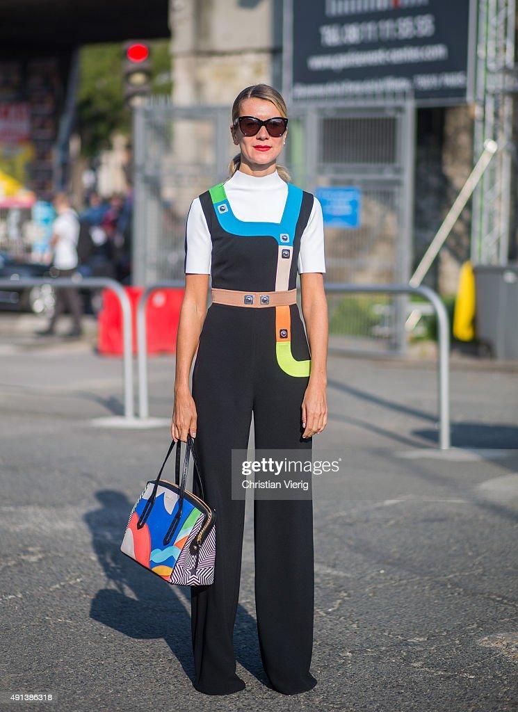 Natalie Joos during the Paris Fashion Week Womenswear Spring/Summer 2016 on October 4 2015 in Paris France