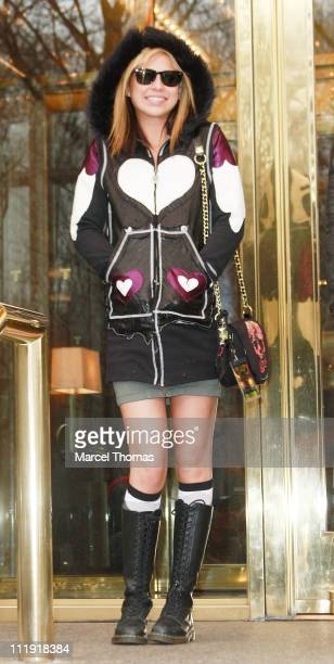 Natalie Kenly aka 'Natty Baby' one of Charlie Sheen's 'Goddesses' is seen outside his Manhattan hotel on April 8 2011 in New York City