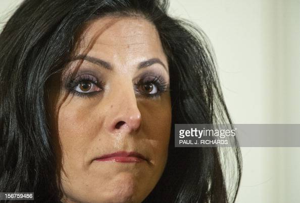 Natalie Khawam and her attorney Gloria Allred (not seen ...