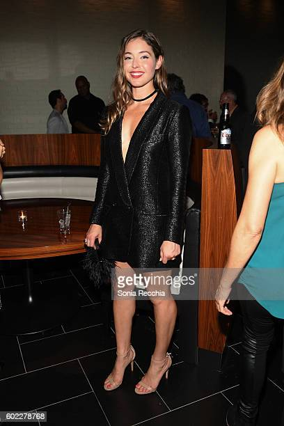 Natalie Krill attends the film premiere after party for Serendipity Point Films' 'Below Her Mouth' at Supper Suite by STK on September 10 2016 in...