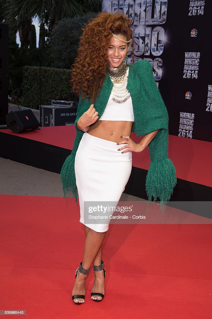 Natalie La Rose arrives at the World Music Awards at Sporting Monte-Carlo on May 27, 2014 in Monte-Carlo, Monaco.