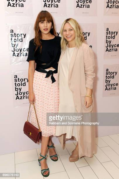 Natalie Lim Suarez and Joyce Azria attends Avec Les Filles Flagship Shop Opening At Macy's Herald Square at Macy's Herald Square on June 14 2017 in...