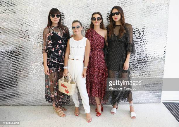 Natalie Lim Suarez Christie Ferrari Leighton Meester and Dylana Lim Suarez attend the Sunglass Hut MADE FOR SUMMER With Leighton Meester during...