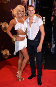 Natalie Lowe and Brendan Cole attend the red carpet launch for Strictly Come Dancing 2014 at Elstree Studios on September 2 2014 in Borehamwood...
