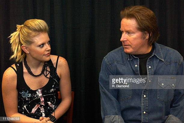 Natalie Maines and Don Henley during The Eagles and Dixie Chicks Benefit for Recording Artists Coalition at MCI Center in Washington DC United States