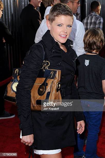 Natalie Maines arrives at the Los Angeles Premiere 'Real Steel' at Gibson Amphitheatre on October 2 2011 in Universal City California