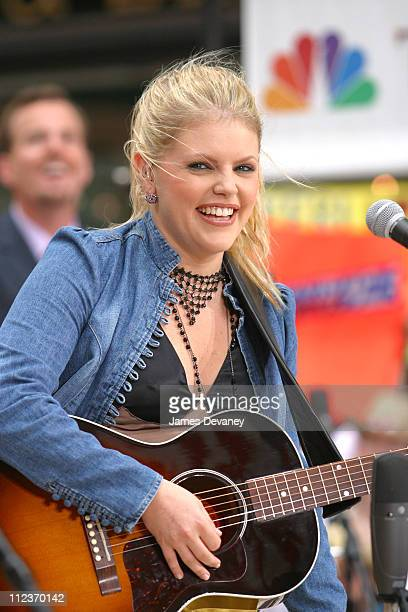 Natalie Maines of The Dixie Chicks during The Dixie Chicks Perform on 'The Today Show' Summer Concert Series August 23 2002 at NBC Studios...