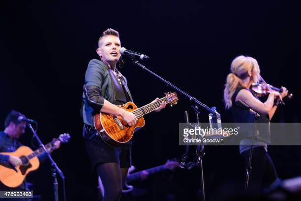 Natalie Maines of The Dixie Chicks performs on stage for C2C Music Festival at O2 Arena on March 15 2014 in London United Kingdom