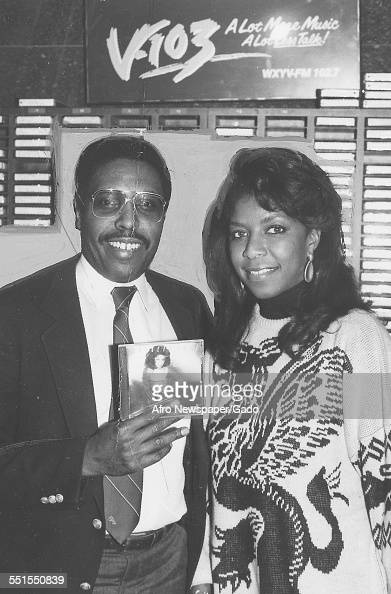 Natalie Maria Cole AfricanAmerican singer songwriter and performer with Roy Sampson the program director of V103 radio station November 20 1996