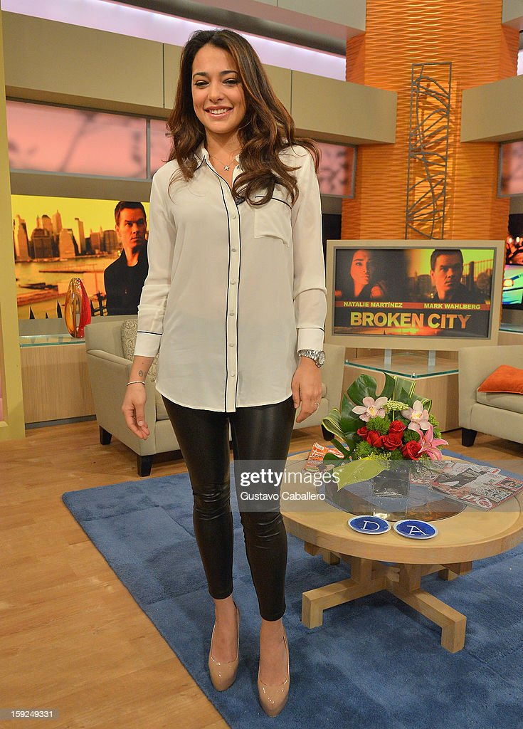 Natalie Martinez on The Set Of Despierta America to promote new film 'Broken City' at Univision Headquarters on January 10, 2013 in Miami, Florida.