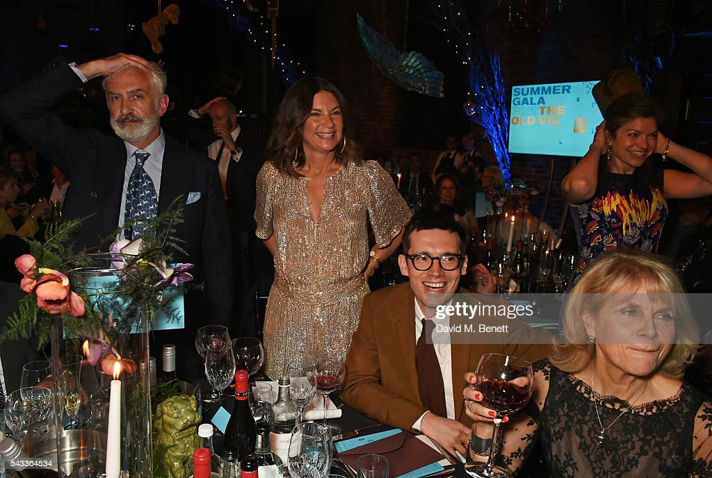 <a gi-track='captionPersonalityLinkClicked' href=/galleries/search?phrase=Natalie+Massenet&family=editorial&specificpeople=2118990 ng-click='$event.stopPropagation()'>Natalie Massenet</a> (2L) and Erdem Moralioglu (2R) attend the Summer Gala for The Old Vic at The Brewery on June 27, 2016 in London, England.