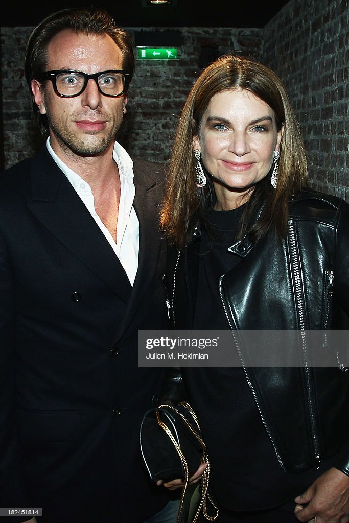 Natalie Massenet and Erik Tortensson attend the Glamour dinner for Patrick Demarchelier as part of the Paris Fashion Week Womenswear Spring/Summer 2014 at Monsieur Bleu restaurant on September 29, 2013 in Paris, France.