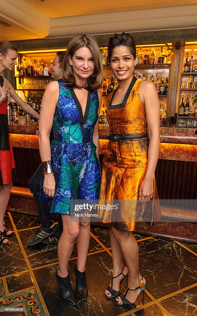 <a gi-track='captionPersonalityLinkClicked' href=/galleries/search?phrase=Natalie+Massenet&family=editorial&specificpeople=2118990 ng-click='$event.stopPropagation()'>Natalie Massenet</a> and <a gi-track='captionPersonalityLinkClicked' href=/galleries/search?phrase=Freida+Pinto&family=editorial&specificpeople=5518973 ng-click='$event.stopPropagation()'>Freida Pinto</a> attend as Net-A-Porter host private dinner to celebrate the launch of the Proenza Schouler excluisve capsule collection on March 26, 2013 in London, England.