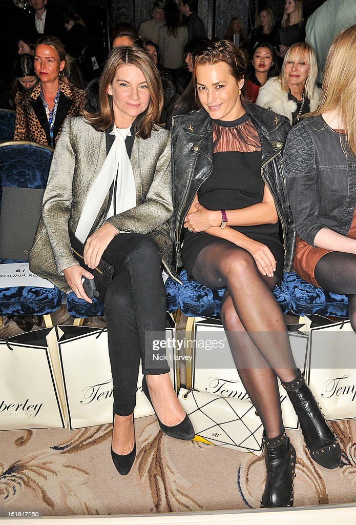 <a gi-track='captionPersonalityLinkClicked' href=/galleries/search?phrase=Natalie+Massenet&family=editorial&specificpeople=2118990 ng-click='$event.stopPropagation()'>Natalie Massenet</a> and <a gi-track='captionPersonalityLinkClicked' href=/galleries/search?phrase=Yasmin+Le+Bon&family=editorial&specificpeople=161272 ng-click='$event.stopPropagation()'>Yasmin Le Bon</a> (R) attend the Temperley London show during London Fashion Week Fall/Winter 2013/14 at the Dorchester Hotel on February 17, 2013 in London, England.