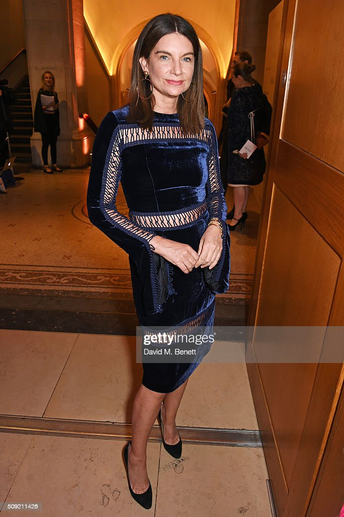 Natalie Massenet attends a private view of 'Vogue 100: A Century of Style' hosted by Alexandra Shulman and Leon Max at the National Portrait Gallery on February 9, 2016 in London, England.