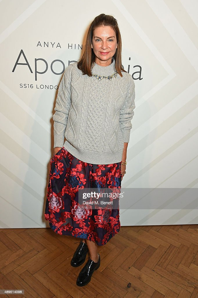 Natalie Massenet attends the Anya Hindmarch Spring/Summer 2016 show on September 22 2015 in London England