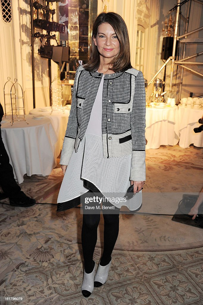 Natalie Massenet attends the Moschino cheap&chic show during London Fashion Week Fall/Winter 2013/14 at The Savoy Hotel on February 16, 2013 in London, England.