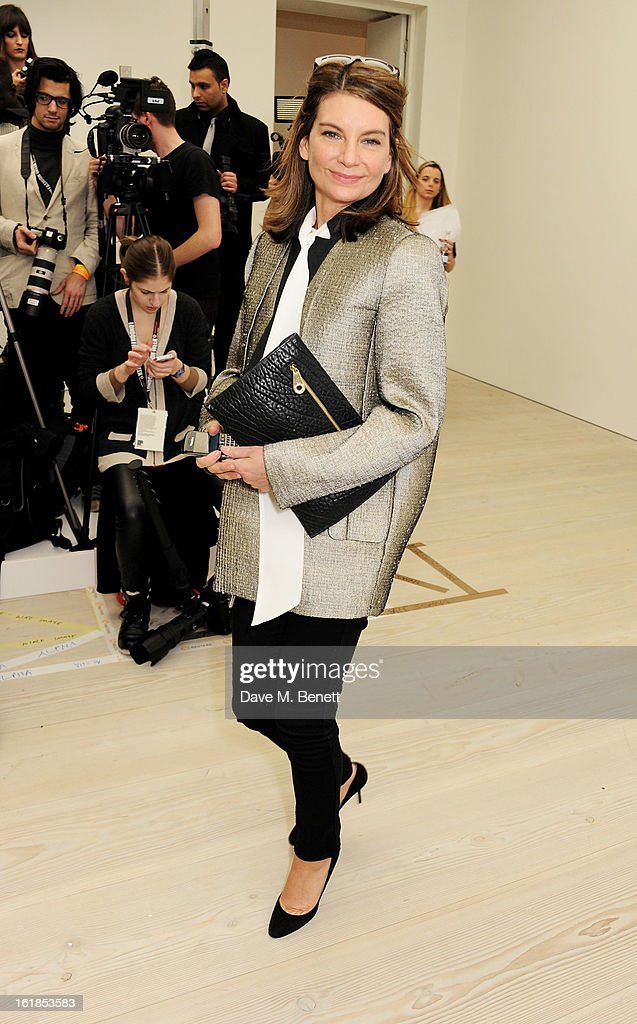 Natalie Massenet attends the Vivienne Westwood Red Label show during London Fashion Week Fall/Winter 2013/14 at the Saatchi Gallery on February 17, 2013 in London, England.