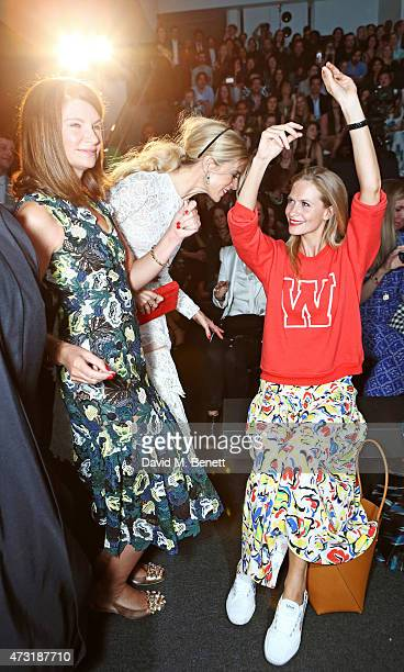 Natalie Massenet NetaPorter Founder Laura Bailey and Poppy Delevingne attend The NET SET powered by NETAPORTERCOM launch party on May 13 2015 in...