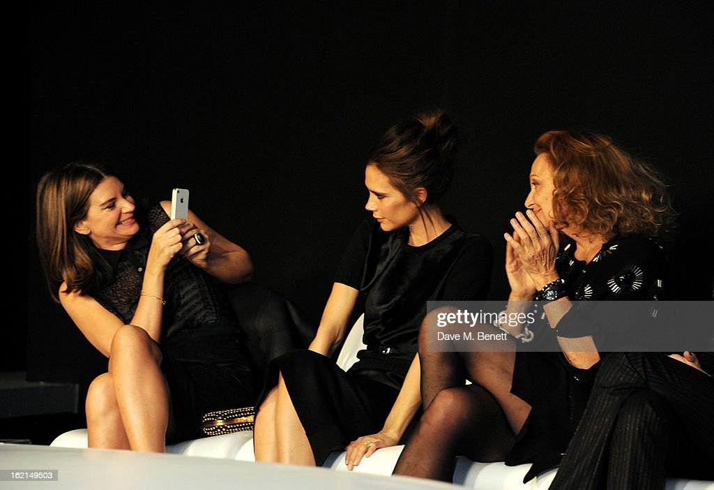 <a gi-track='captionPersonalityLinkClicked' href=/galleries/search?phrase=Natalie+Massenet&family=editorial&specificpeople=2118990 ng-click='$event.stopPropagation()'>Natalie Massenet</a>, <a gi-track='captionPersonalityLinkClicked' href=/galleries/search?phrase=Victoria+Beckham&family=editorial&specificpeople=161100 ng-click='$event.stopPropagation()'>Victoria Beckham</a> and Diane Von Furstenberg attend the 2013 International Woolmark Prize Final at ME London on February 16, 2013 in London, England.