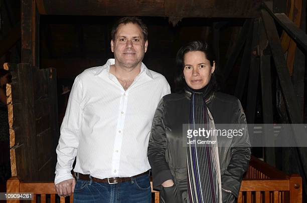 Natalie Merchant and Josh Selig CEO and Founder of Little Airplanes Productions attend a cocktail reception to kick off the Kidscreen Summit at the...