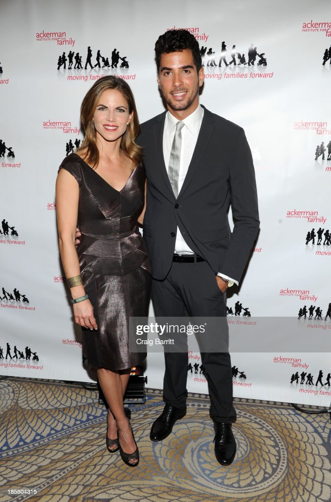 Natalie Morales and Javier Gomez attend the 2013 Families Moving Forward gala at The Waldorf Astoria on October 21, 2013 in New York City.