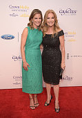Natalie Morales and Kathie Lee Gifford attend the 41st Annual Gracie Awards Gala at the Beverly Wilshire Four Seasons Hotel on May 24 2016 in Beverly...