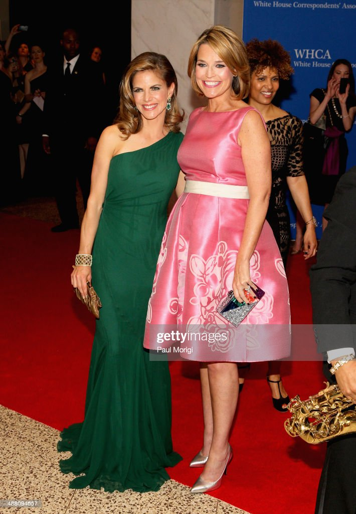 <a gi-track='captionPersonalityLinkClicked' href=/galleries/search?phrase=Natalie+Morales+-+News+Anchor&family=editorial&specificpeople=710956 ng-click='$event.stopPropagation()'>Natalie Morales</a> (L) and <a gi-track='captionPersonalityLinkClicked' href=/galleries/search?phrase=Savannah+Guthrie&family=editorial&specificpeople=653313 ng-click='$event.stopPropagation()'>Savannah Guthrie</a> attend the 100th Annual White House Correspondents' Association Dinner at the Washington Hilton on May 3, 2014 in Washington, DC.