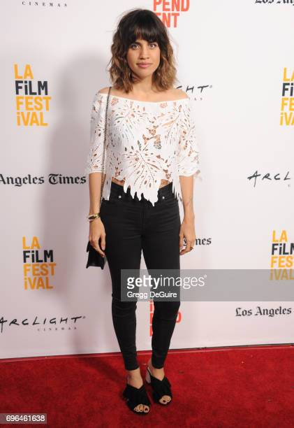 Natalie Morales arrives at the 2017 Los Angeles Film Festival Premiere Of 'Becks' at Arclight Cinemas Culver City on June 15 2017 in Culver City...