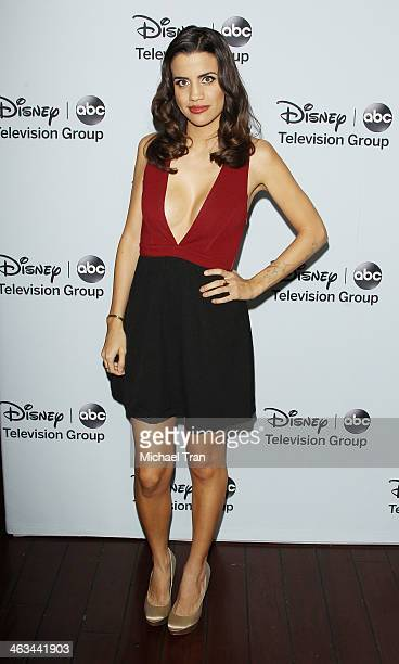 Natalie Morales arrives at the ABC/Disney 2014 Winter TCA party held at The Langham Huntington Hotel and Spa on January 17 2014 in Pasadena California