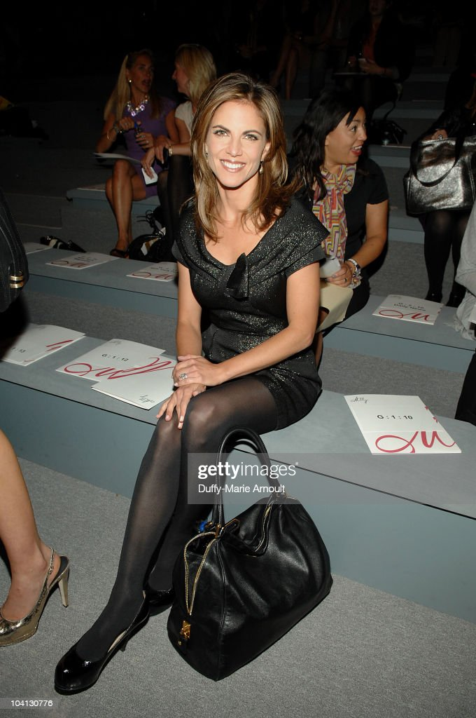 Natalie Morales attends the Milly by Michelle Smith Spring 2011 fashion show during MercedesBenz Fashion Week at The Stage at Lincoln Center on...