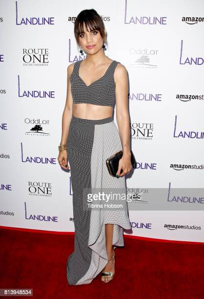 Natalie Morales attends the premiere of Amazon Studios 'Landline' at ArcLight Hollywood on July 12 2017 in Hollywood California