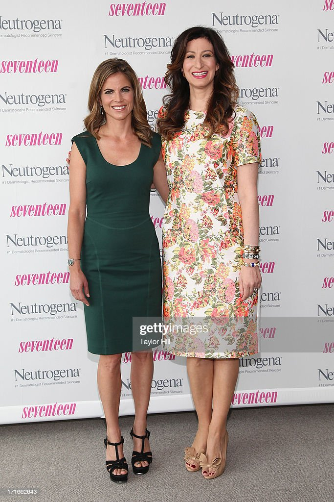 Natalie Morales of 'Today' and Seventeen editor-in-chief Ann Shoket attend the Seventeen Magazine Luncheon Honoring 'Pretty Amazing' Finalists at Hearst Tower on June 27, 2013 in New York City.