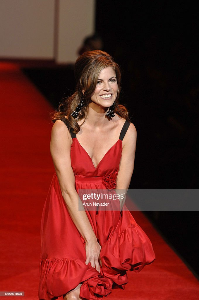 Natalie Morales wearing Tracy Reese during Heart Truth Red Dress Fall 2007