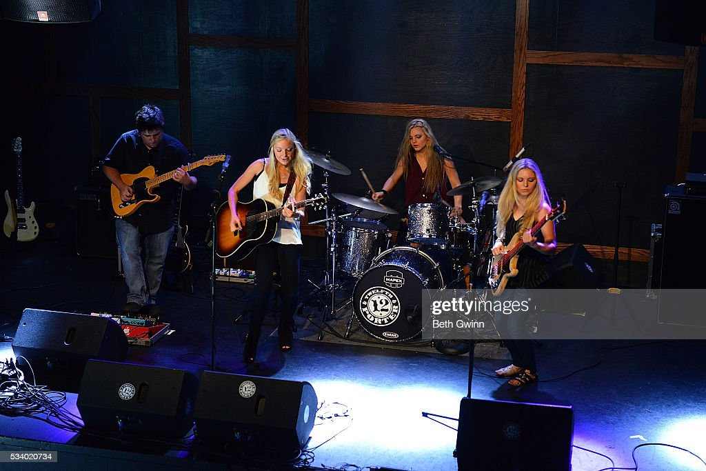 Natalie Morris, Christina Morris, and Hannah Morris of the band Southern Halo play a showcase at 12th & Porter on May 24, 2016 in Nashville, Tennessee.
