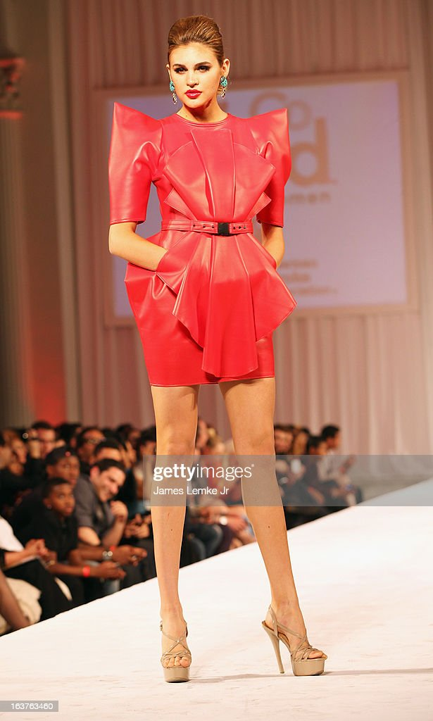 Natalie Pack attends the 2013 Los Angeles Fashion Week - Go Red For Women Red Dress Fashion Show held at the Vibiana on March 14, 2013 in Los Angeles, California.