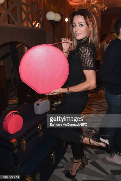 Natalie Pinkham attends the Aspinal of London presentation during London Fashion Week September 2017 on September 18 2017 in London England