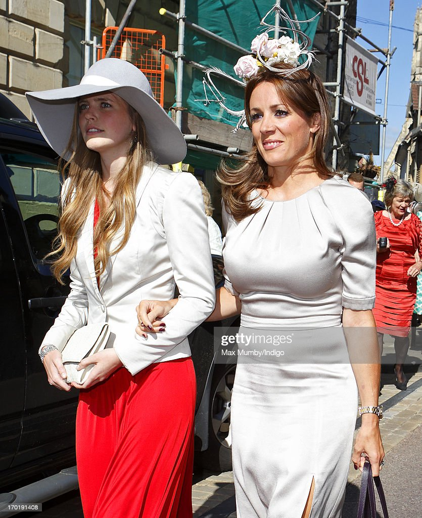 <a gi-track='captionPersonalityLinkClicked' href=/galleries/search?phrase=Natalie+Pinkham&family=editorial&specificpeople=2445880 ng-click='$event.stopPropagation()'>Natalie Pinkham</a> (r) attends the wedding of Lady Natasha Rufus Isaacs and Rupert Finch at the church of St John the Baptist on June 8, 2013 in Cirencester, England.