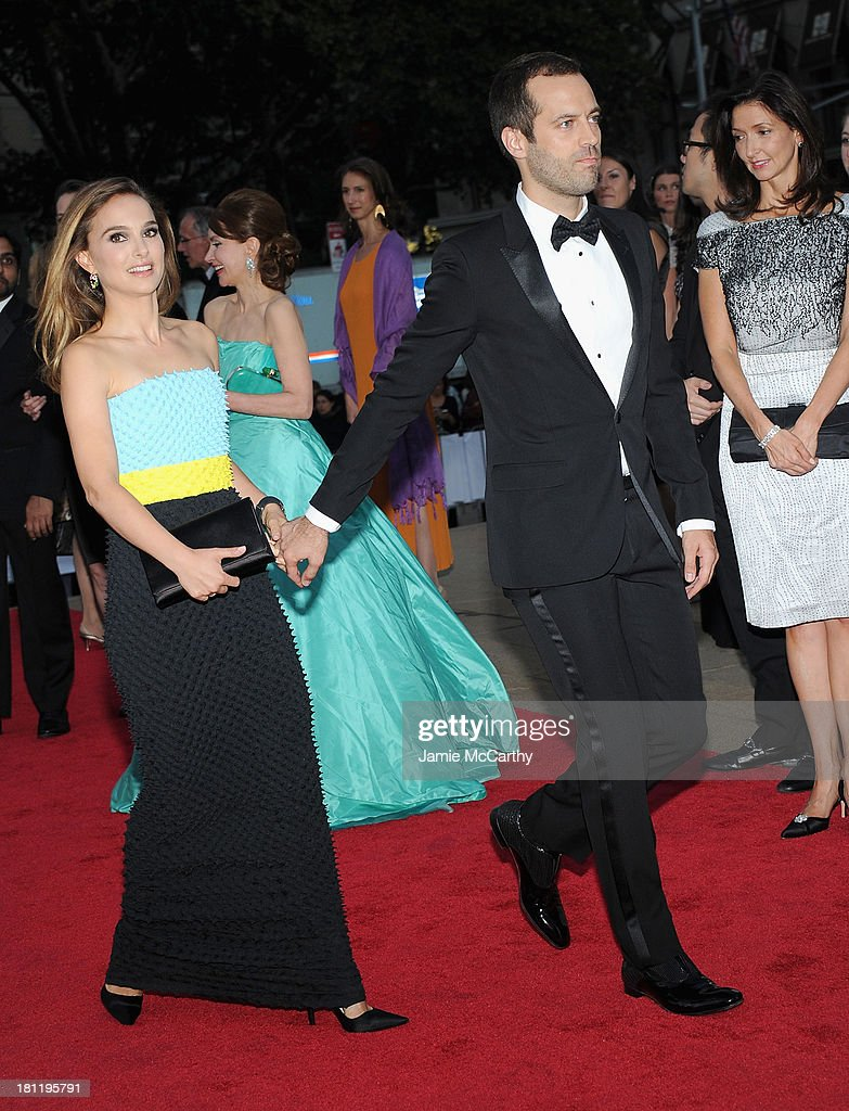 Natalie Portman and Benjamin Millepied attend New York City Ballet 2013 Fall Gala at David H. Koch Theater, Lincoln Center on September 19, 2013 in New York City.